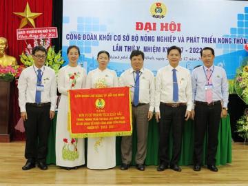 Đại hội Công đoàn khối cơ sở Bộ NN&PTNT lần thứ V nhiệm kỳ 2017-2022